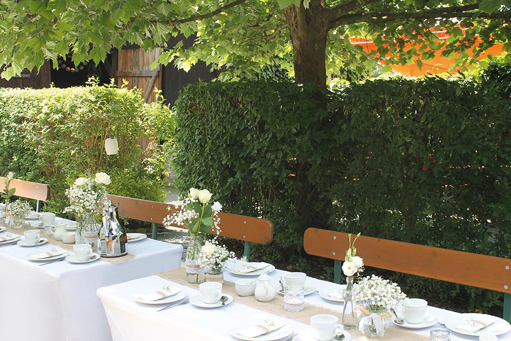 Hochzeit feiern im Landbiergarten