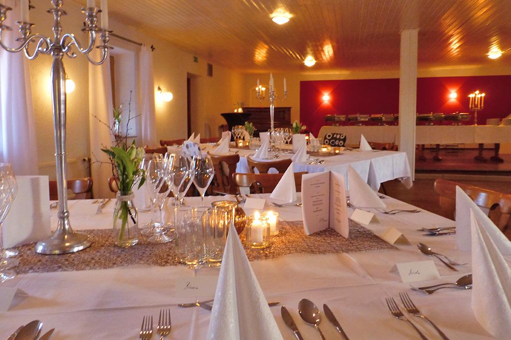 Der große Saal kann für Hochzeiten genutzt werden