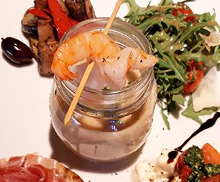 Vorspeise mit Garnele in Stegners Restaurant